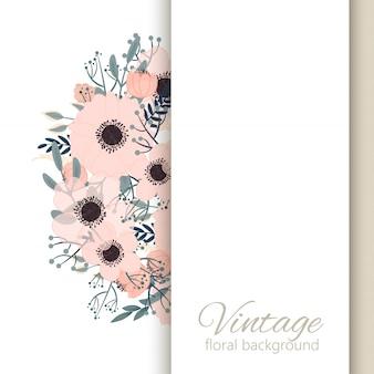 Arrière-plan de bordure florale - bordure de fleur rose