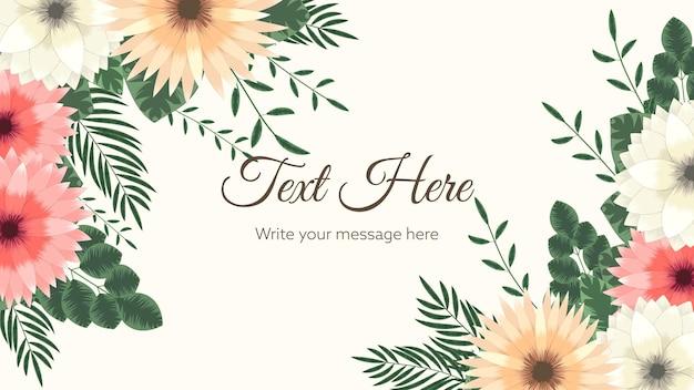 Arrière-plan de bordure de vecteur floral avec des fleurs de griffonnage stylisées multicolor