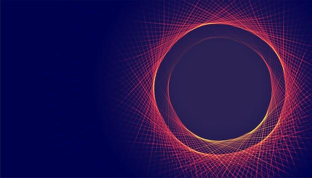 Arrière-plan de cadre abstrait lignes circulaires avec espace de texte