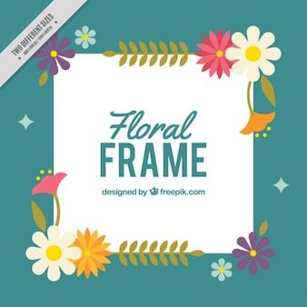 Arrière-plan avec un cadre floral