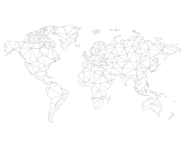 Arrière-plan de carte du monde abstrait polygonale.