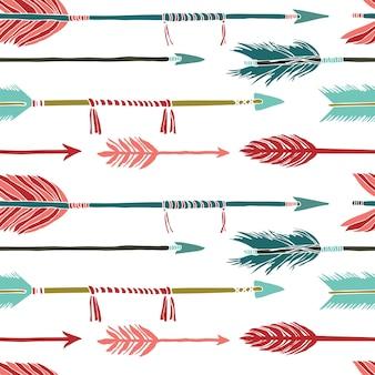 Arrière-plan coloré de flèches