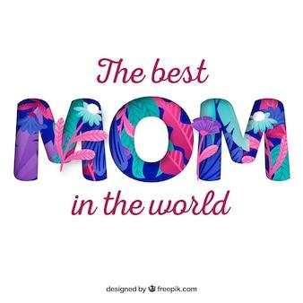 Arrière-plan coloré de l'heureuse fête des mères