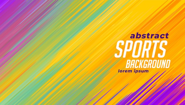 Arrière-plan coloré de lignes sportives