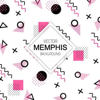 Arrière-plan coloré memphis moderne