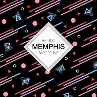 Arrière-plan Coloré Memphis Moderne Vecteur Premium