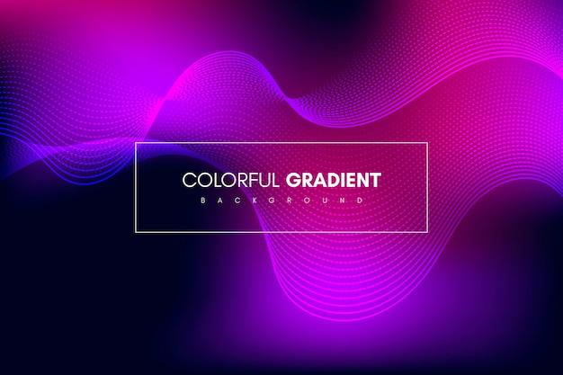 Arrière-plan colorful gradient avec rayures