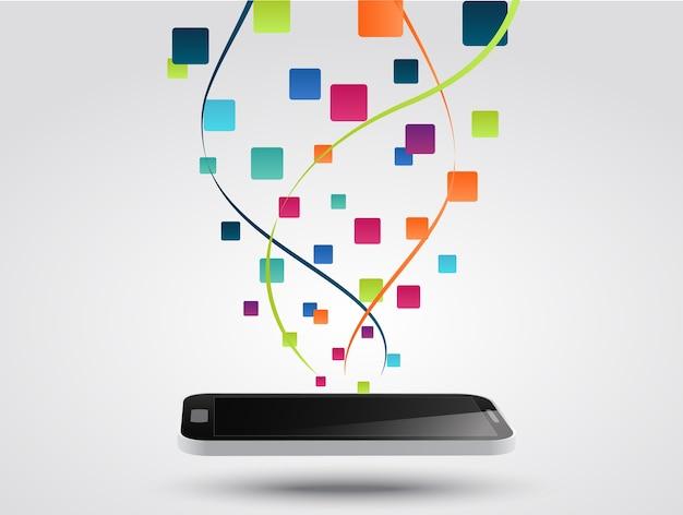 Arrière-plan de concept smartphone applications icône
