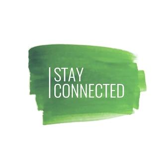 Arrière-plan de conception abstrait avc aquarelle verte