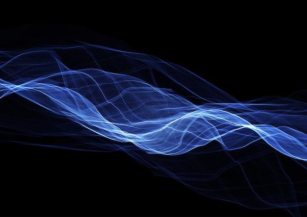 Arrière-plan de conception abstraite de lignes bleues électriques