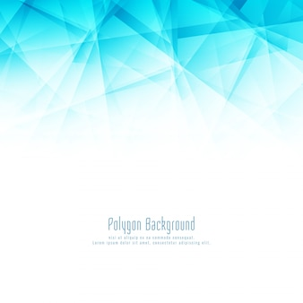 Arrière-plan de conception abstraite polygone bleu élégant