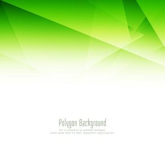 Arrière-plan de conception abstraite polygone vert