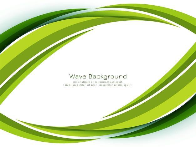 Arrière-plan de conception abstraite vague verte moderne