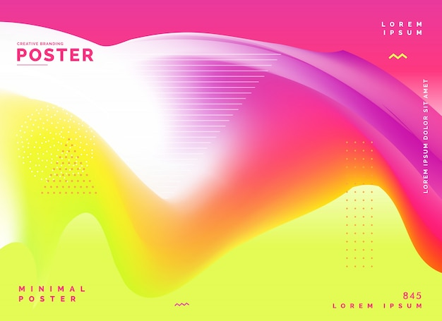 Arrière-plan de conception affiche coloré abstrait