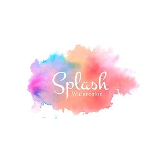 Arrière-plan de conception aquarelle colorée splash élégant