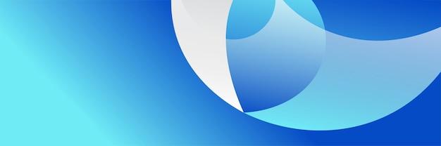 Arrière-plan de conception de bannière de technologie numérique bleu foncé dégradé abstrait moderne