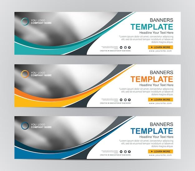 Arrière-plan de conception de bannière web abstraite ou modèles d'en-tête