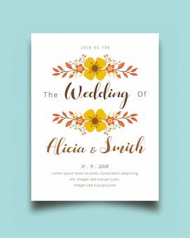 Arrière-plan de conception belle invitation avec vecteur floral