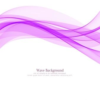 Arrière-plan de conception belle vague rose