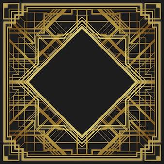 Arrière-plan de conception bordure style géométrique style art déco