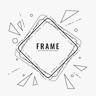 Arrière-plan de conception de cadre de ligne abstraite