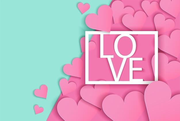 Arrière-plan de conception de carte d'amour.