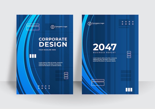 Arrière-plan de conception de couverture d'entreprise bleu moderne. couvertures contemporaines numériques bleues, modèles, affiches, brochures, bannières, dépliants. arrière-plans de conception de technologie futuriste minimal abstrait