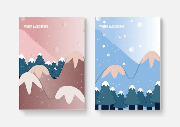 Arrière-plan de conception de la couverture des soldes d'hiver 2022