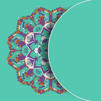 Arrière-plan de conception décorative mandala