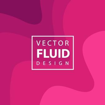 Arrière-plan de conception fluide vecteur coloré