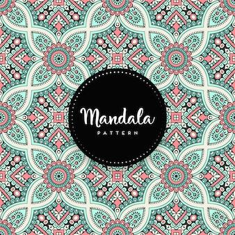 Arrière-plan de conception de luxe mandala ornemental