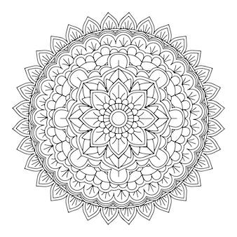 Arrière-plan de conception de mandala décoratif