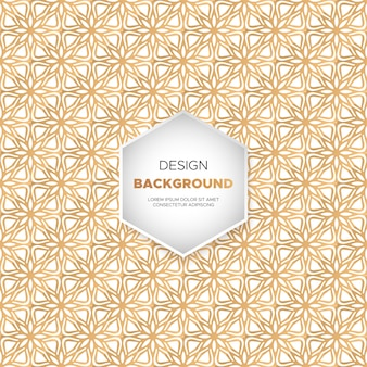 Arrière-plan de conception de mandala ornement de luxe en couleur or