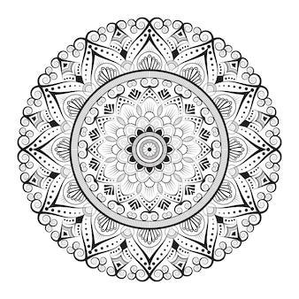Arrière-plan de conception de mandala ornemental de forme créative