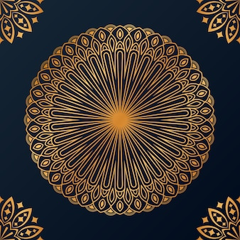 Arrière-plan de conception de mandala ornemental de luxe