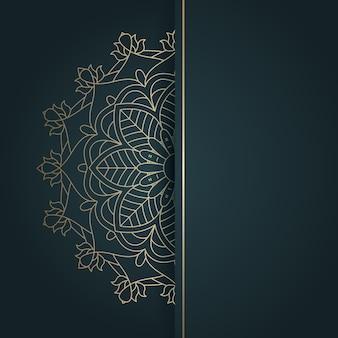 Arrière-plan de conception de mandala de style ethnique élégant