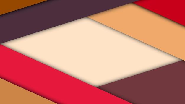 Arrière-plan de conception matérielle moderne de feuilles de papier avec des ombres
