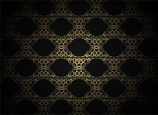 Arrière-plan de conception de modèle d'ornement sombre de luxe