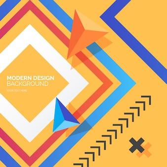 Arrière-plan de conception moderne avec des formes colorées