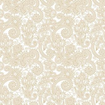 Arrière-plan de conception paisley fleur
