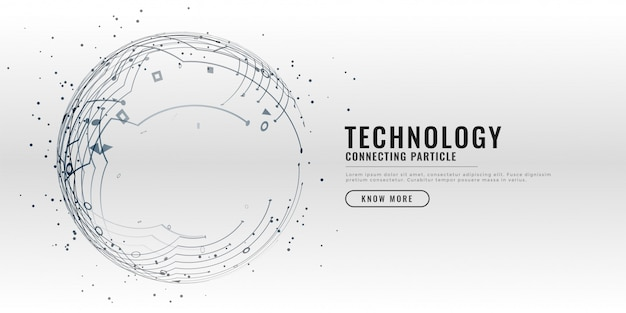 Arrière-plan de conception de schéma de circuit technologique