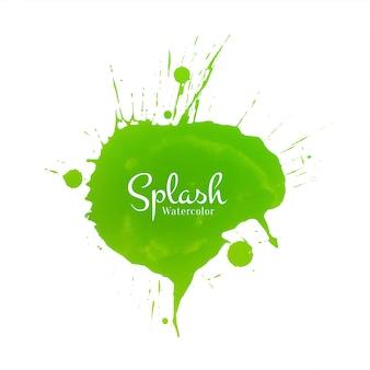 Arrière-plan de conception splash décoratif aquarelle verte