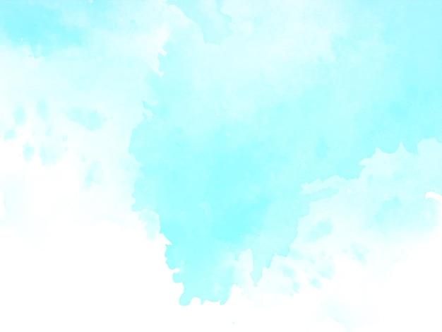 Arrière-plan de conception de texture aquarelle bleu doux abstrait