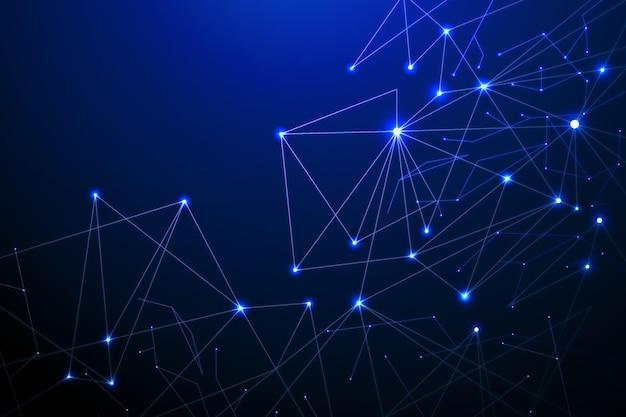 Arrière-plan de connexion réseau de style dégradé