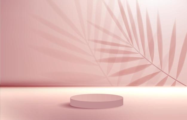 Arrière-plan cosmétique pour la marque de produit et la géométrie de présentation de l'emballage sous forme de moulage carré