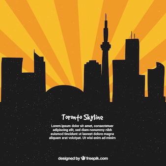 Arrière-plan créatif toronto skyline
