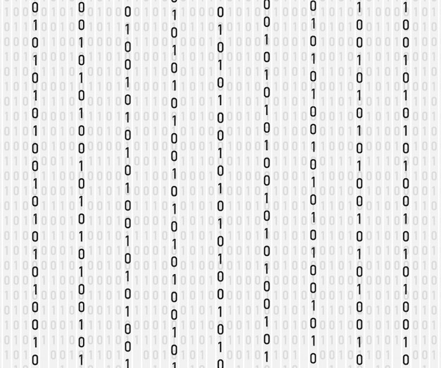 Arrière-plan dans un style matriciel. chute de nombres aléatoires.