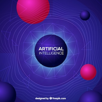 Arrière-plan de l'intelligence artificielle dans un style abstrait