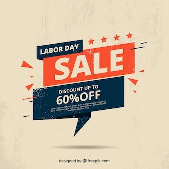 Arrière-plan de vente fête du travail dans le style vintage