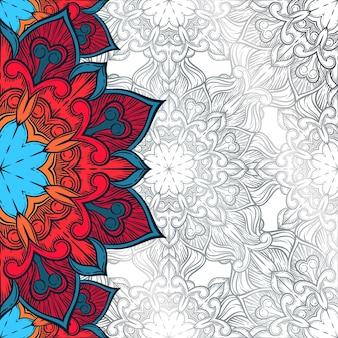 Arrière-plan décoratif abstrait. ornement avec des éléments de mosaïque.